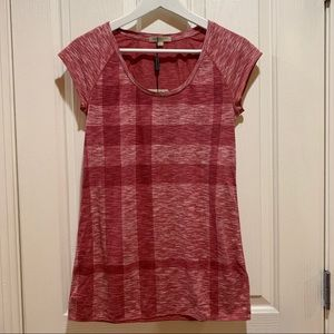 Burberry Brit NWT Tee Marbled Pink Top Small New